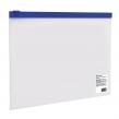 Папка-конверт на молнии МАЛОГО ФОРМАТА (245×190 мм), A5, прозрачная, молния синяя, 0,11 мм, BRAUBERG  (221227)