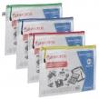 Папка-конверт на молнии А4 (335×243 мм), молния ассорти, ПВХ, сетка, прозрачная, 0,2 мм, BRAUBERG Segment (223886)