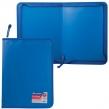 Папка на молнии пластиковая BRAUBERG, СТАНДАРТ, А4, 325×230 мм, матовая, синяя (224057)