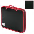 Папка на молнии пластиковая с ручками BRAUBERG «Contract» , А4, 350×270×45 мм, черно-красная