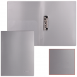 Папка с боковым металлическим прижимом и внутренним карманом BRAUBERG диагональ, серебристая, до 100 листов, 0,6 мм