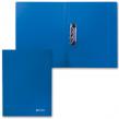 Папка с боковым металлическим прижимом BRAUBERG стандарт, синяя, до 100 листов, 0,6 мм (221629)