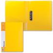 Папка с боковым металлическим прижимом и внутренним карманом BRAUBERG «Contract», желтая, до 100 л., 0,7 мм