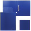 Папка на 2 кольцах BRAUBERG, диагональ, 40 мм, темно-синяя, до 250 листов, 0,9 мм