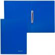 Папка 2 кольца BRAUBERG Бюджет, 21мм, синяя, до 80 листов, 0,5мм