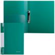 Папка 2 кольца BRAUBERG Стандарт, 25мм, зеленая, до 120 листов, 0,8мм