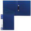 Папка на 2 кольцах BRAUBERG «Contract» , 35 мм, синяя, до 180 листов, 0,9 мм