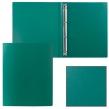 Папка на 4 кольцах STAFF, 25 мм, зеленая, до 120 листов, 0,5 мм