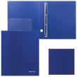 Папка 4 кольца BRAUBERG Диагональ, 40мм, т-синяя, до 250 листов, 0,9мм