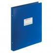Папка на 4 кольцах БОЛЬШОГО ФОРМАТА А3, Вертикальная, 30 мм, синяя, 0,8 мм, BRAUBERG, Стандарт (225765)