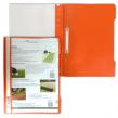 Скоросшиватель пластиковый DURABLE  оранжевый
