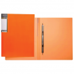 Папка с металлическим пружинным скоросшивателем HATBER HD, пластик, Неон оранжевая, до 100 листов, 0,7 мм (224909)