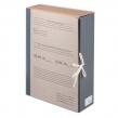Короб архивный STAFF, 8 см, переплетный картон, бумвинил, 2 х/б завязки, до 700 л. (126902)