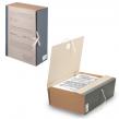 Короб архивный STAFF, 12 см, переплетный картон, корешок - бумвинил, 2 х/б завязки, до 1000 л