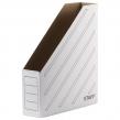 Лоток вертикальный для бумаг, микрогофрокартон, 75 мм, до 700 л, белый, STAFF (128881)