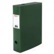 Короб архивный (330×245 мм), 70 мм, пластик, разборный, до 750 листов, зеленый, 0,7 мм, STAFF, (237277)