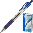 Ручка гелевая автоматическая с грипом PILOT G-2, корпус прозрачный, узел 0,5 мм, линия письма 0,3 мм, Синяя, BL-G2-5 (140380)