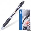 Ручка гелевая автоматическая с грипом PILOT G-2, корпус прозрачный, узел 0,5 мм, линия письма 0,3 мм, Черная, BL-G2-5 (140381)