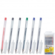 Ручки гелевые BRAUBERG «Jet», набор 6 шт., корпус прозрачный, 0,5 мм (2 синие, 2 черные, красная, зеленая)