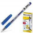 Ручка гелевая BRAUBERG «Geller» , корпус прозрачный, игольчатый пишущий узел 0,5 мм, резиновый держатель, синяя