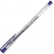 Ручка гелевая STAFF, корпус прозрачный, хромированные детали, узел 0,5 мм, линия письма 0,35,  синяя, мм (142788)