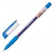 Ручка гелевая с грипом STAFF College, синяя, корпус прозрачный, игольчатый узел 0,6 мм, линия письма 0,3 мм (143015)