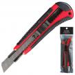 Нож универсальный LACO, 18 мм, автофиксатор, цвет корпуса красно-черный, с резиновой вставкой, + 2 лезвия