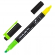Текстовыделитель двусторонний BRAUBERG, Желтый/Зеленый, линия 1-4 мм (150841)