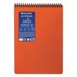 Блокнот А5, 80 л., спираль пластиковая, обложка пластик, клетка, BRAUBERG Metropolis, Оранжевый (110979)