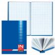 Блокнот BRAUBERG  A5, 135×206 мм, 96 л., твердая ламин. обложка, клетка, синий