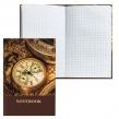 Блокнот BRAUBERG , A5, 135×206 мм, 96 л., твердая ламинированная обложка, клетка, время (123247)