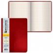 Блокнот А4, 200×252 мм, BRAUBERG Income, 128 л., гладкий кожзаменитель, клетка, красный (125205)