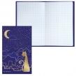 Блокнот, А5, 80 л., фольга, клетка, BRAUBERG, «Кошечка», 135×206 мм