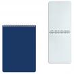 Блокнот А5 (145×212 мм), 60 л., гребень, лакированная обложка, клетка, HATBER, Синий (127200)