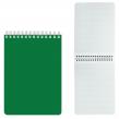 Блокнот А5 (146×205 мм), 60 л., гребень, перфорация на отрыв, лакированный, BRAUBERG, Зеленый, (111272)