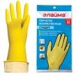 Перчатки хозяйственные латексные ЛАЙМА Стандарт, Многоразовые, хлопчатобумажное напыление, размер М (средний) (600353)