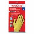 Перчатки хозяйственные латексные ЛАЙМА Премиум, Многоразовые, хлопчатобумажное напыление, суперплотные, M (средний) (600571)