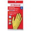 Перчатки хозяйственные латексные ЛАЙМА Премиум, Многоразовые, хлопчатобумажное напыление, суперплотные, XL (очень большой) (600781)