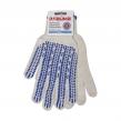 Перчатки хлопчатобумажные, 1 пара, 7 класс, 70 г, ПВХ-протектор, ЛАЙМА премиум, Белые (601913)