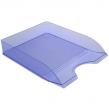 Лоток горизонтальный СТАММ Дельта, пластиковый, тонированный голубой,  ЛТ652 (235656