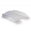 Лоток горизонтальный для бумаг СТАММ «Эксперт», А4 (340×255×63 мм), прозрачный, ЛТ202 (235673)