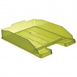 Лоток горизонтальный для бумаг СТАММ «Эксперт», А4 (340×255×63 мм), тонированный зеленый (лайм), ЛТ206 (235676)