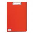 Доска-планшет BRAUBERG «Comfort» с верхним прижимом, А4, 23×35 см, картон/ПВХ, красная