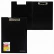 Папка-планшет BRAUBERG «Contract» плотная, с верхним прижимом и крышкой, А4, пластик черный