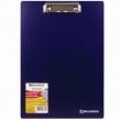Доска-планшет BRAUBERG «Contract», с верхним зажимом, А4, 313×225 мм, пластик, синяя, 1,5 мм
