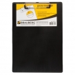 Доска-планшет BRAUBERG «NUMBER ONE A4», с верхним прижимом, А4, картон/ПВХ, черная