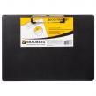 Доска-планшет ГОРИЗОНТАЛЬНАЯ (318×228 мм), А4, BRAUBERG NUMBER ONE  с прижимом, картон/ПВХ, Черная (232223)