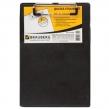 Доска-планшет BRAUBERG «NUMBER ONE A5», с верх. прижимом, А5, 15,8×23 см, карт./ПВХ, черная