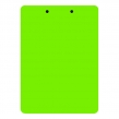 Клипборд (планшет) А4 inФОРМАТ, пластиковый, с зажимом, черно-зеленый (073105)