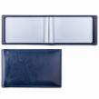 Визитница однорядная BRAUBERG Imperial, на 20 визиток, под гладкую кожу, темно-синяя (232060)